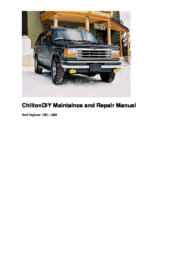 1991-1999 ford explorer service pdf FORD ford 112550