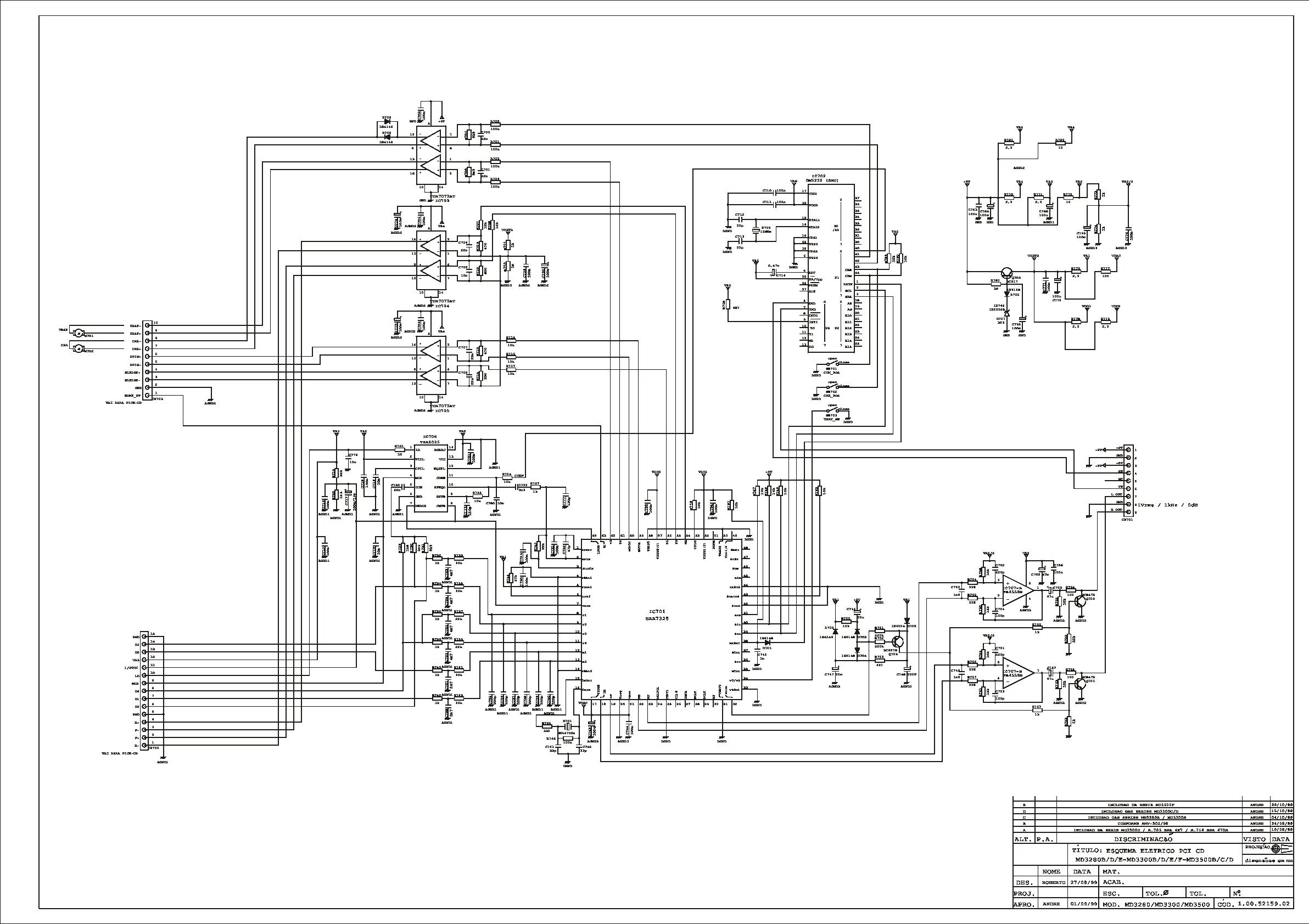 CCE Audio MD-3500D Diagrama Esquematico.pdf