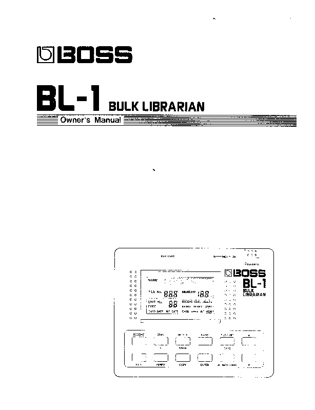 Roland Bl 1 Manual Del Usuario Pdf Roland Bl 1 Manual Del