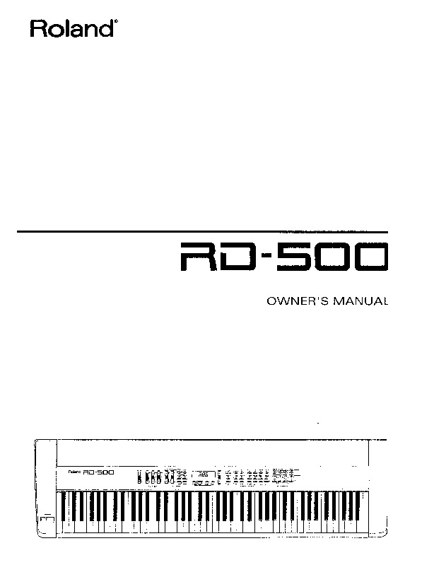 Roland Rd 500 Manual