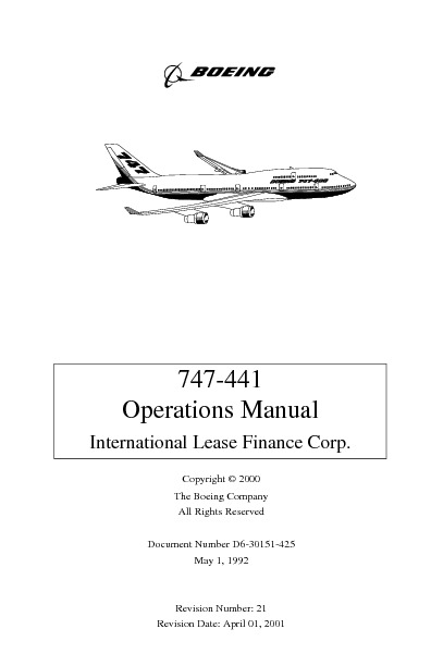 747 441 Operations Manual   Boeing  2000  pdf 747 441 Operations Manual   Boeing  2000  pdf