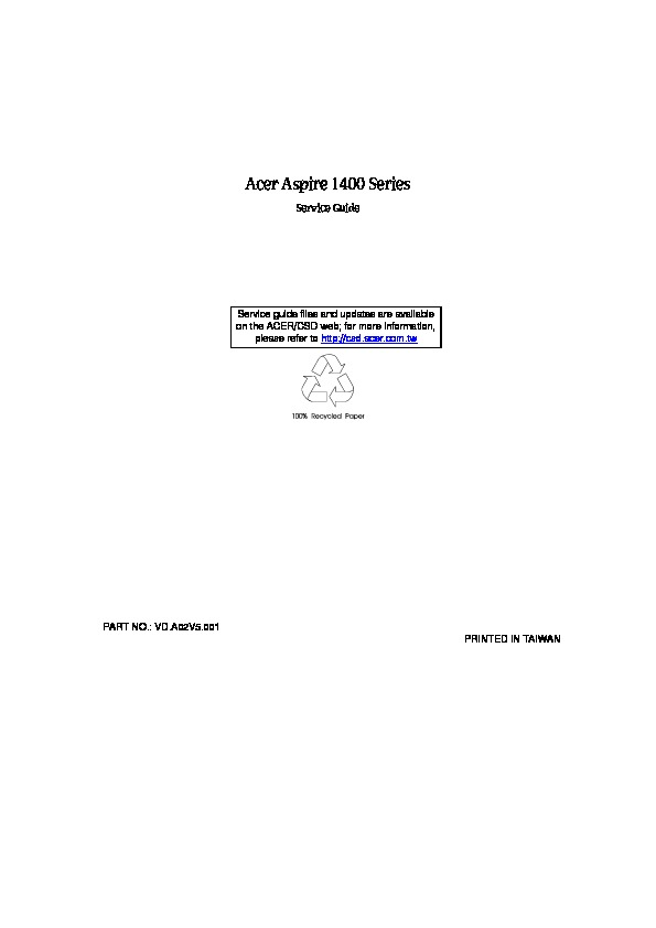 Acer Laptop as1400sg Service Manual.pdf