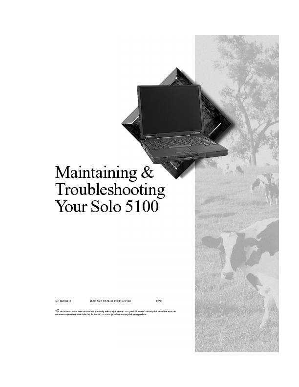 SOLO 5100 MAINTENANCE AND TROUBLE GUIDE pdf Gateway