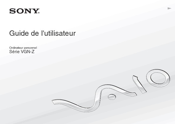 Sony Vaio Manual del Usuario Z4 H Frances pdf SONY