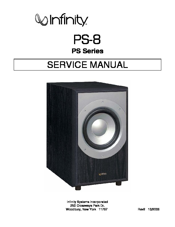 infinity PS 8 subwoofer.pdf