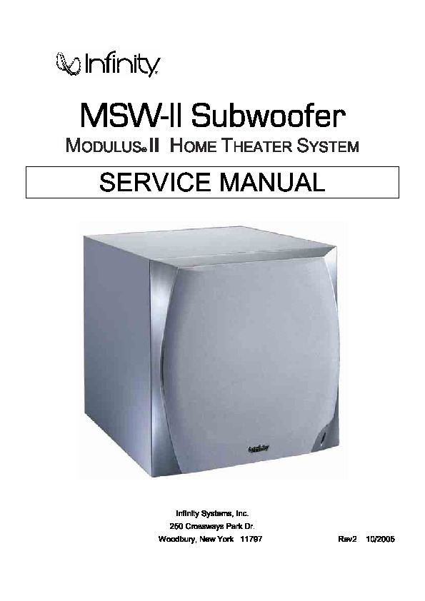 MSW II Subwoofer Infinity.pdf