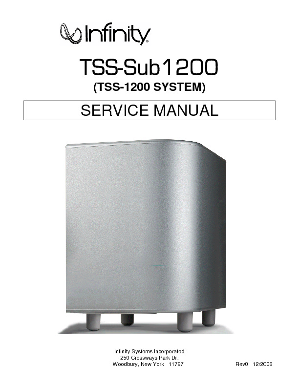 TSS 1200 Infinity Active Subwoofer.pdf