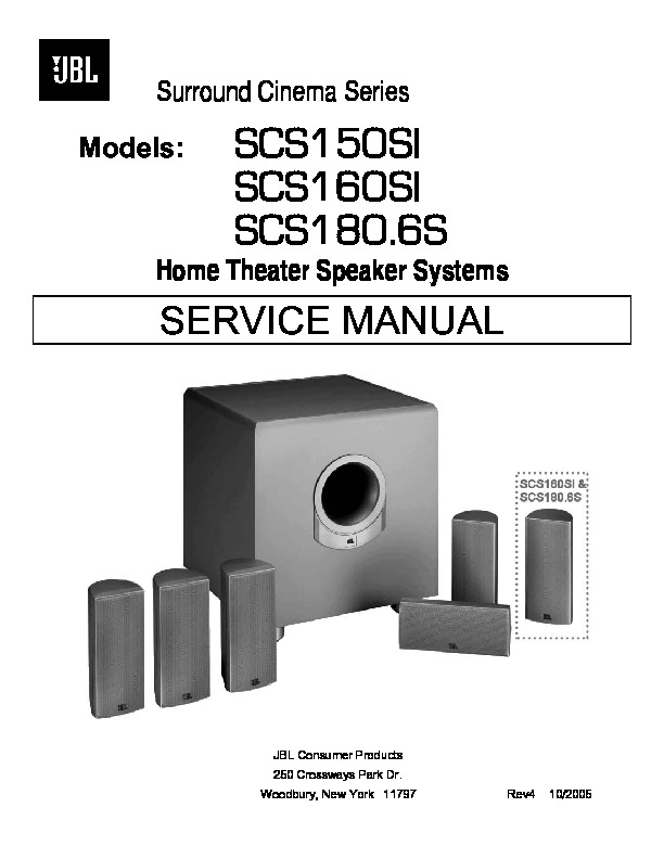 SCS150SI 160SI 180.6 JBL Home Theater Speaker Systems.pdf