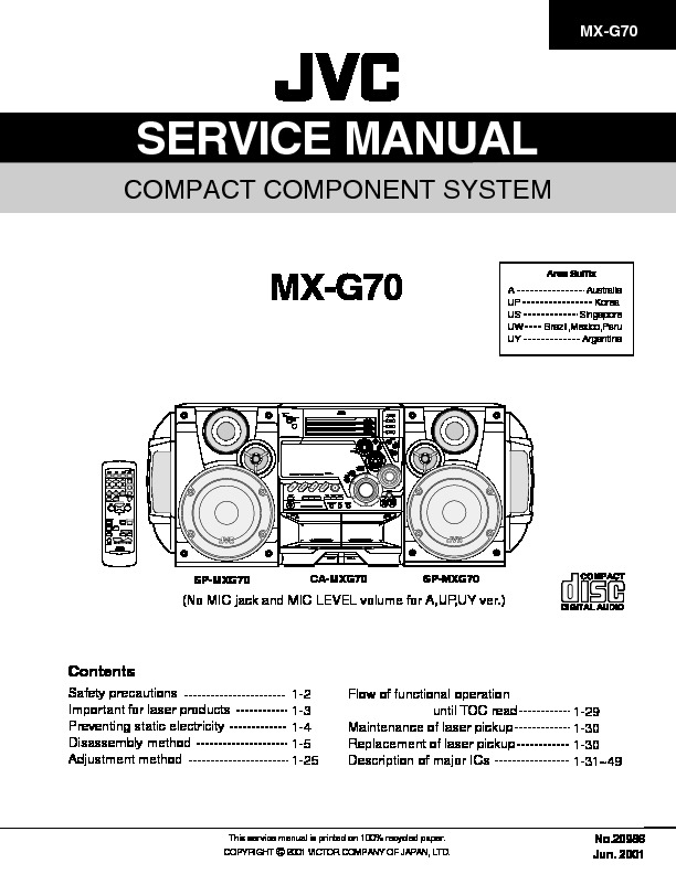 JVC MX-G70 COMPACT COMPONENT SYSTEM.pdf