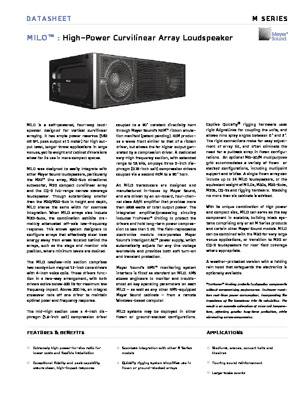 Meyer Sound High Power Curvilinear Array Loudspeaker.pdf