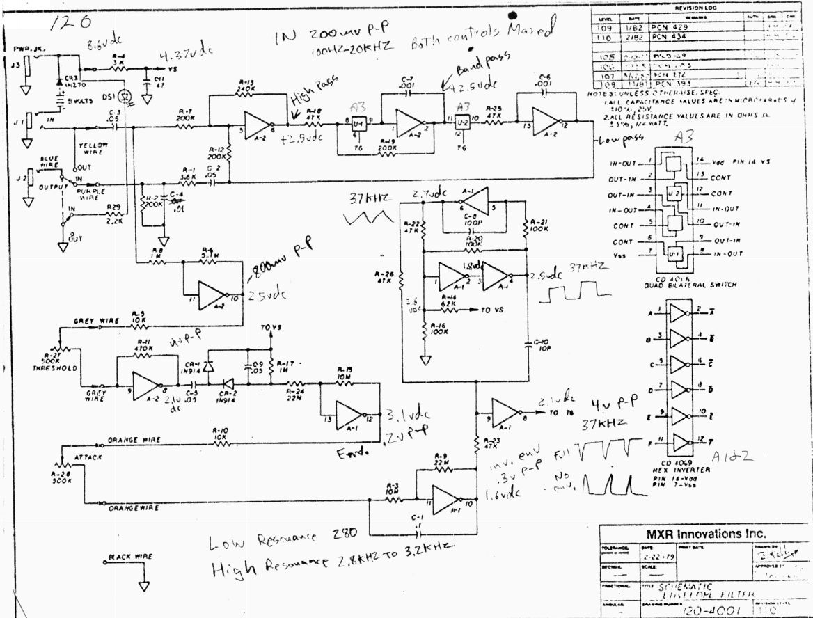 MXR envelope filter pedal schematic.pdf