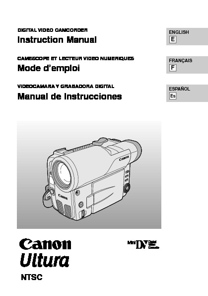 Canon Ultura Digital Camcorder Manual.pdf