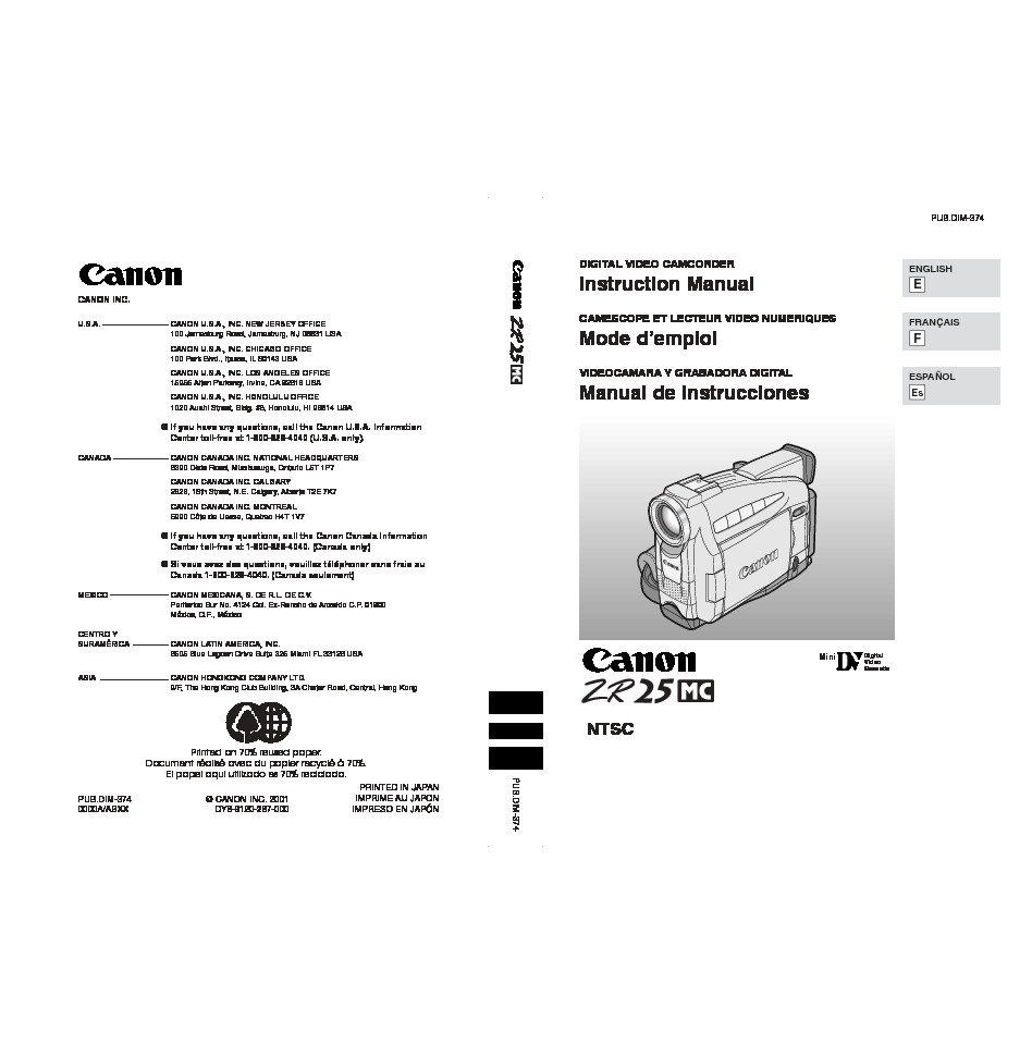 Canon ZR25MC Digital Camcorder with Built-in Manual.pdf