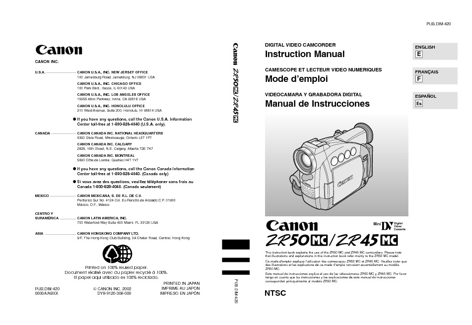 Canon ZR45MC MiniDV Digital Camcorder with 25 LCD Manual.pdf