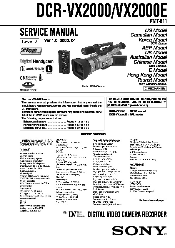 Sony Dcr-Vx2000 Service Manual Level2.pdf