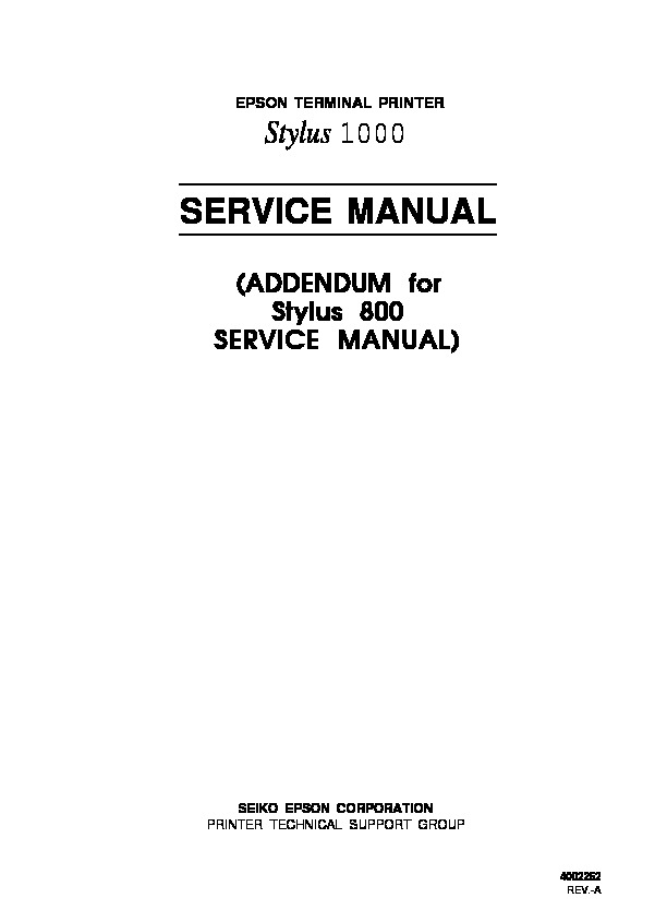 Epson Stylus 1000 Service Manual Addendum.pdf
