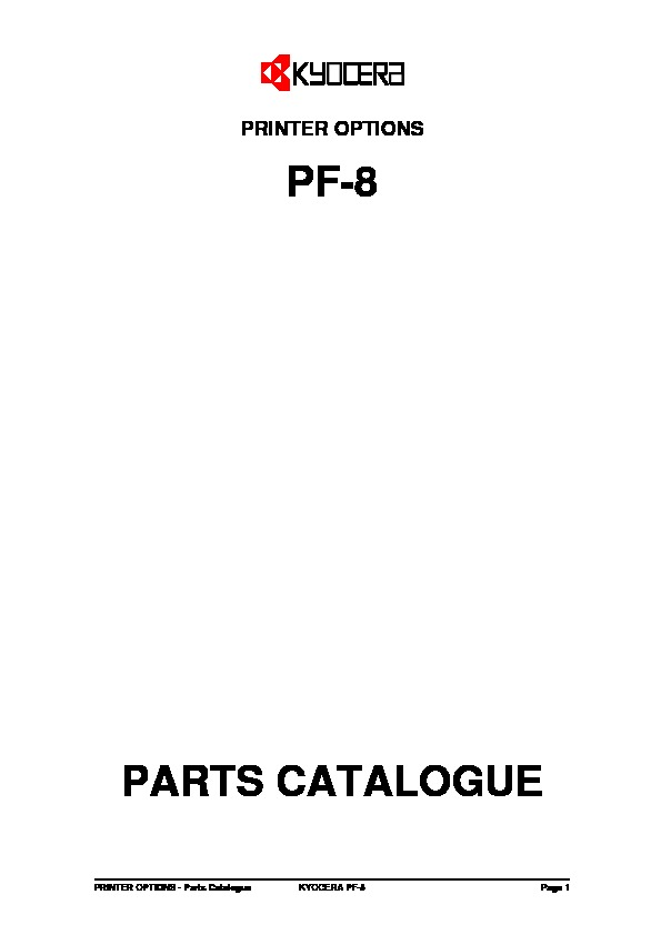 Kyocera Paper Feeder PF-8 Parts Manual.pdf