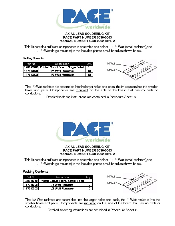 Axial Lead Soldering Kit RevA 041105TF.pdf Pace 6030-0063