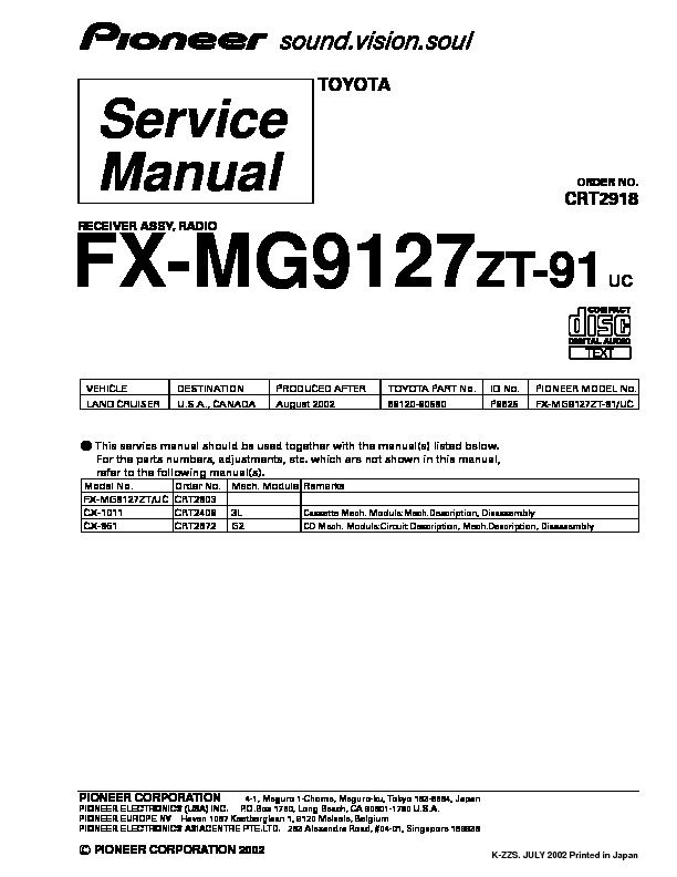 FX MG9127 receiver assy radio suplement.pdf
