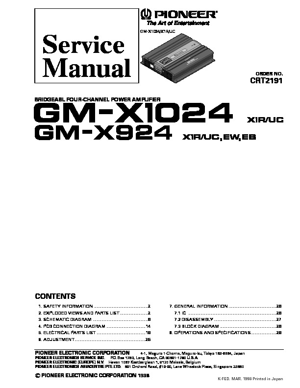 GM X1024,924 bridgeable four channel power amplifier.pdf