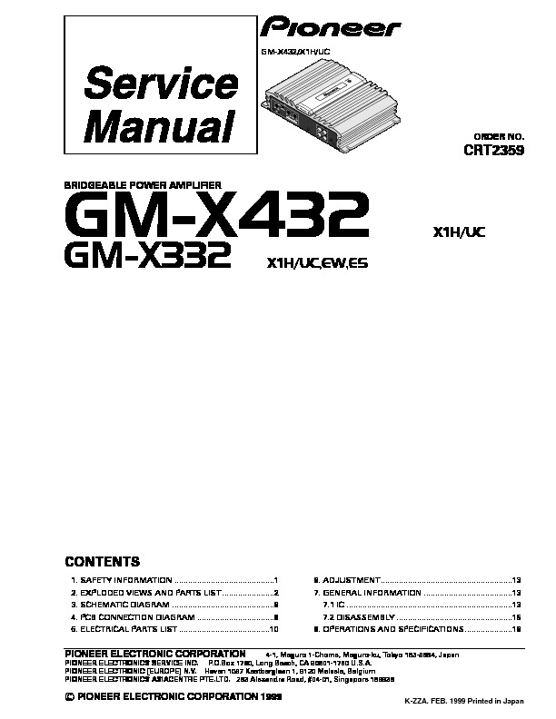 GM X432,332 bridgeable power amplifier.pdf