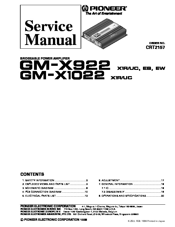 GM X922,1022 bridgeable power amplifier.pdf