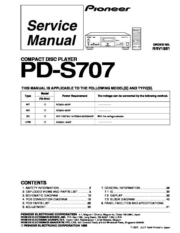 PD S707 pioneer COMPACT DISC PLAYER.pdf