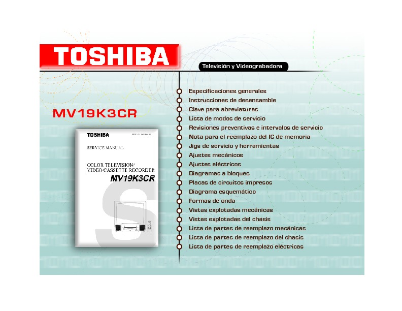 MV19K3CR.pdf Toshiba MV19K3CR