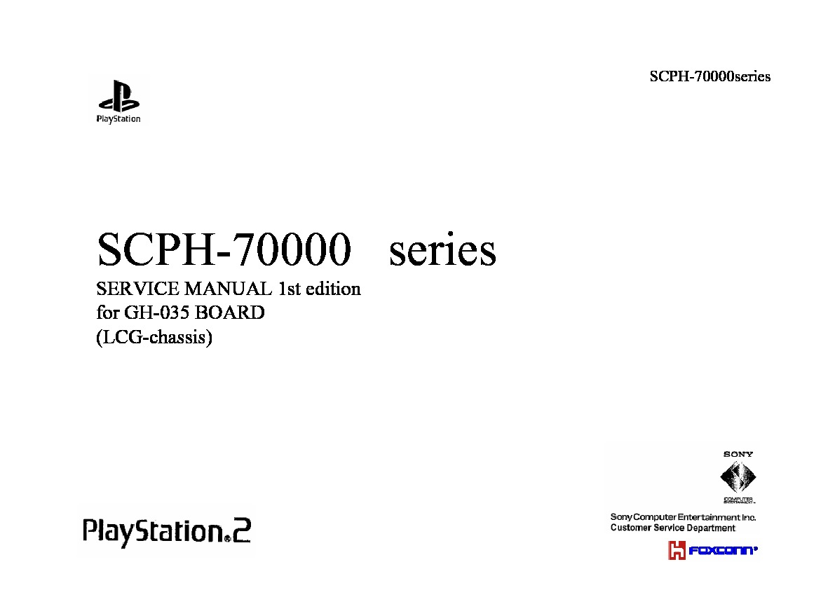 Service Manual SCPH-70000series 1st Edition.pdf sony SCPH-7000