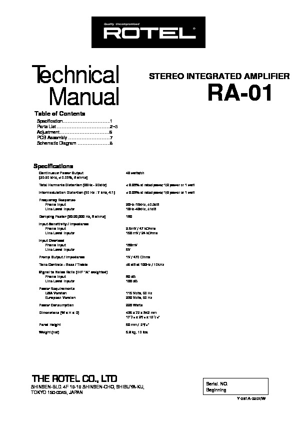 Rotel RA 01 Amplifier.pdf