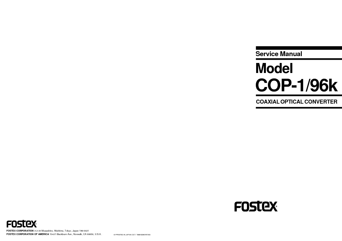 FOSTEX cop1 96 COAXIAL OPTICAL CONVERTER service manual.pdf
