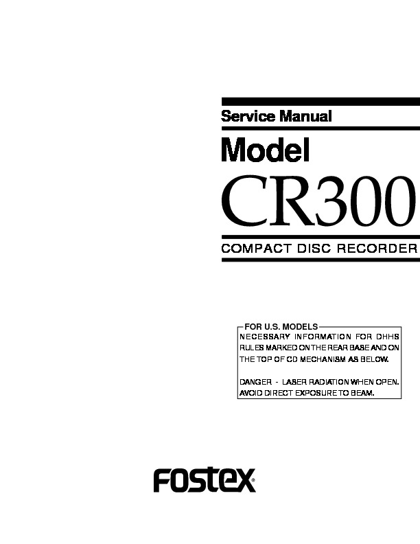 Fostex cr300 service manual.pdf