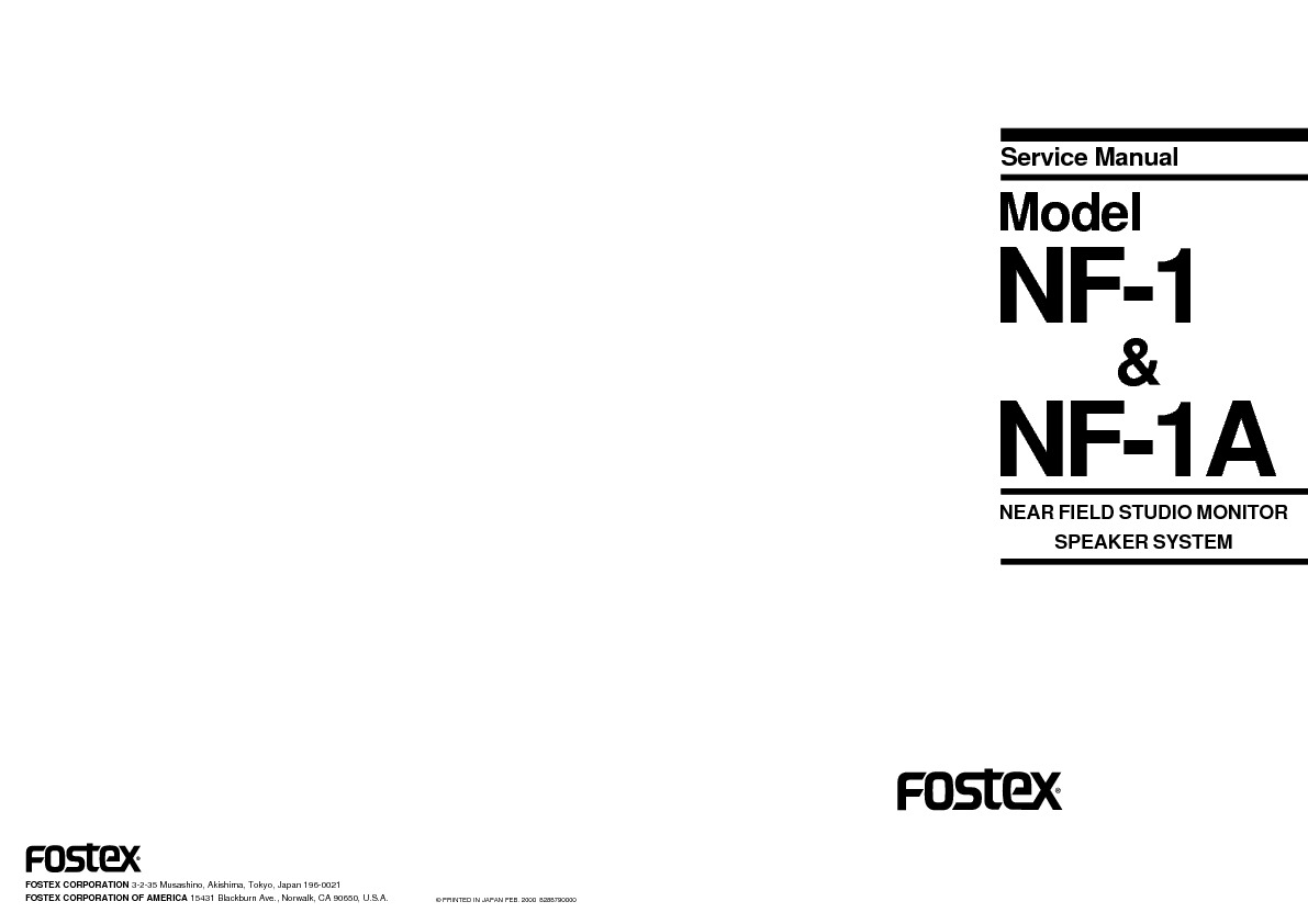 FOSTEX NF1 STUDIO MONITOR service manual.pdf