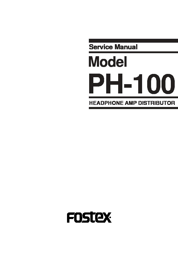 FOSTEX PH100 HEADPHONE AMP service manual.pdf