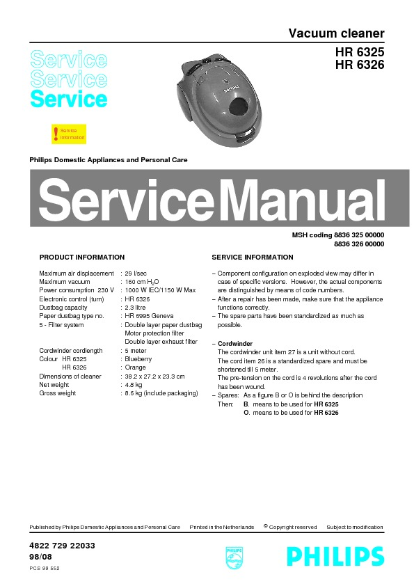 manual aspirador HR6325.pdf HR6325