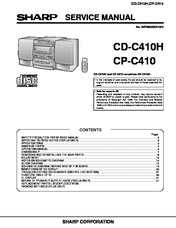 SHARP CD-C410, CD-410H.pdf