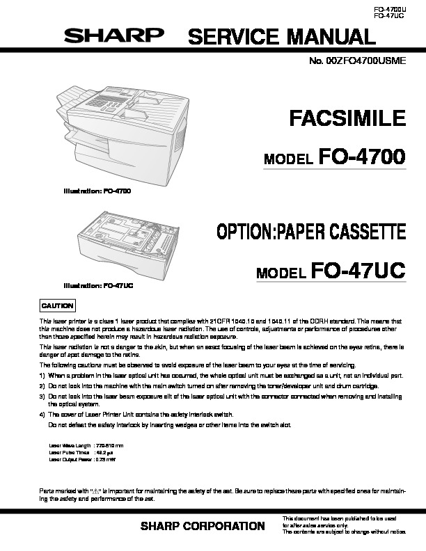 Sharp Fax FO4700U Manual de Servicio.PDF