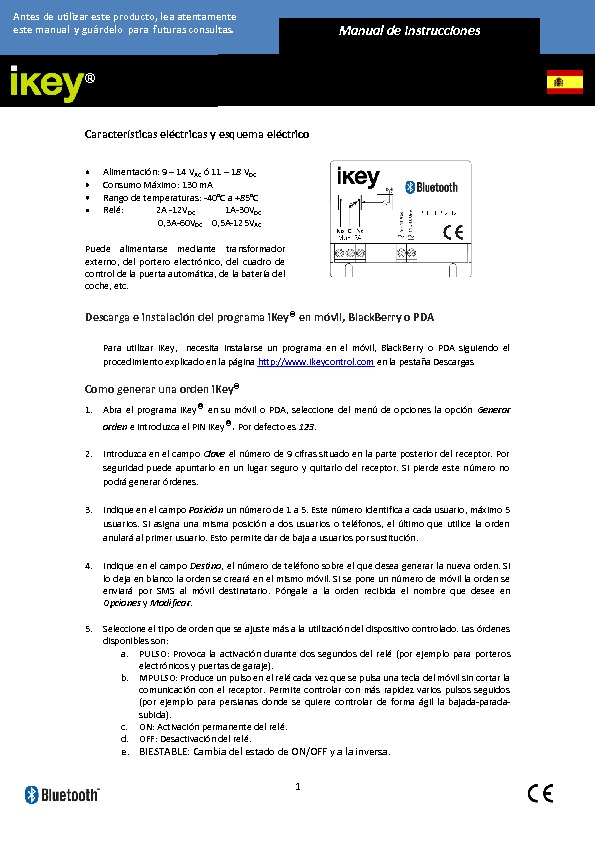 manualIkey.pdf bluetooth