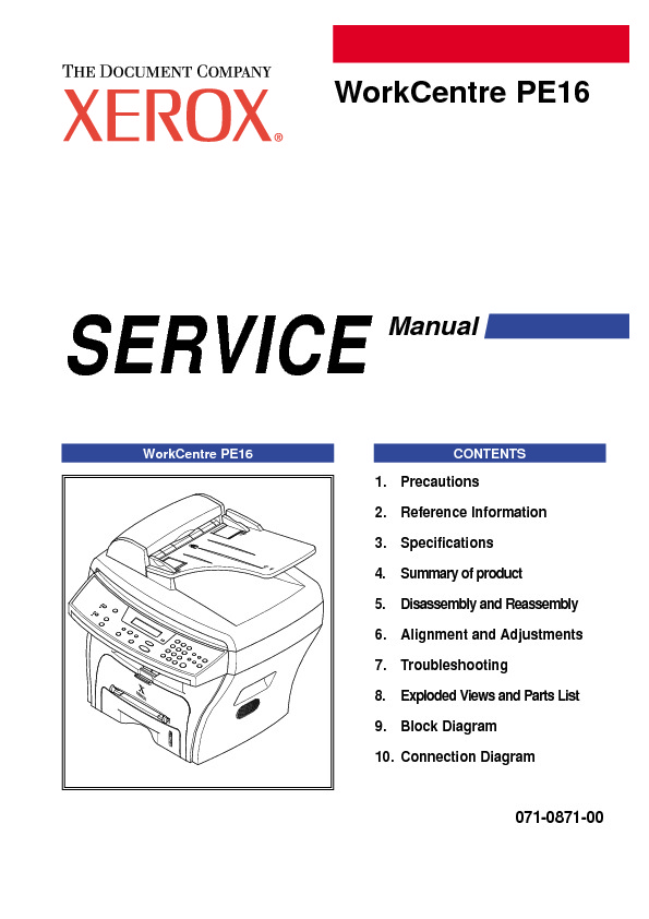 WorkCentre PE16 Series  Service Manual.pdf Xerox Pe16