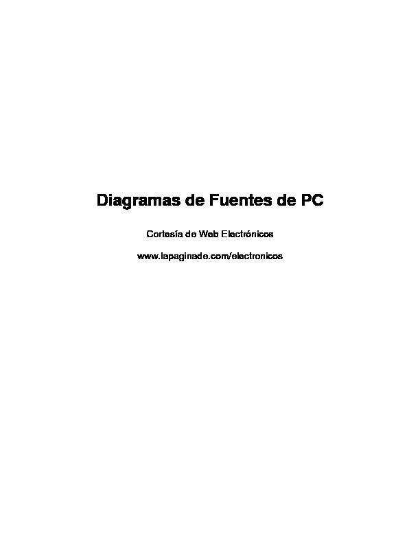 Diagramas Fuentes PC pdf Diagramas Fuentes PC pdf