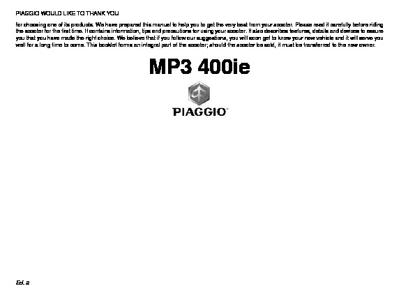 MP3 400 Manual del usuario pdf MP3 400 Manual del usuario pdf