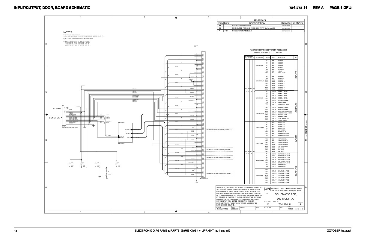 INPUTOUTPUT DOOR BOARD SCHEMATIC pdf INPUTOUTPUT DOOR BOARD SCHEMATIC pdf