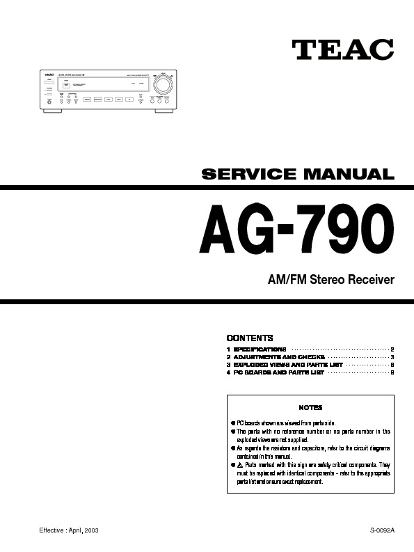 TEAC AG790 stereo receiver service manual.pdf