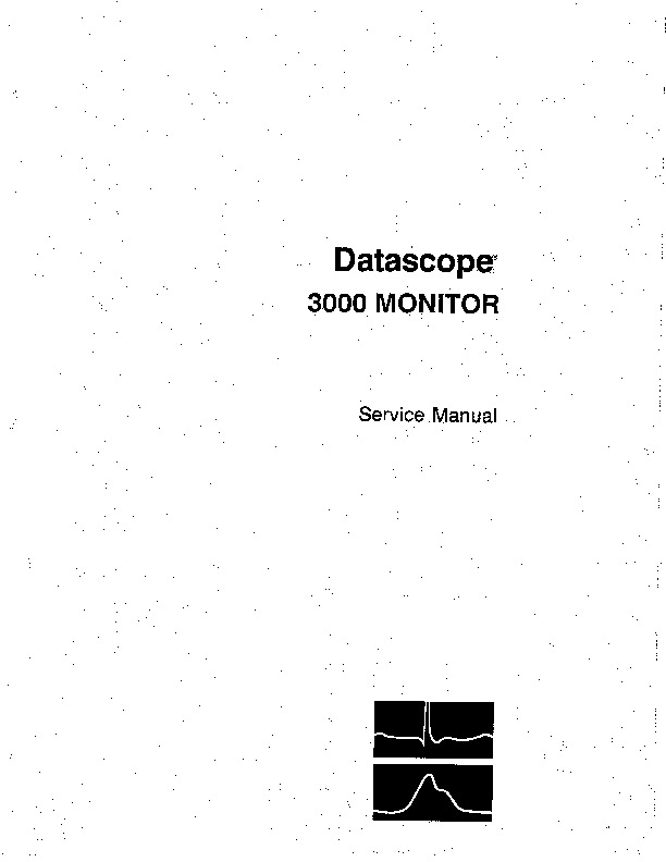 Monitor Datascope 3000 pdf Monitor Datascope 3000 pdf