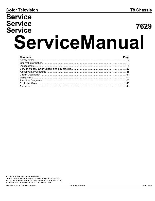 Philips 26LW5022 T8 chassis service manual pdf Philips 26LW5022 T8 chassis service manual pdf