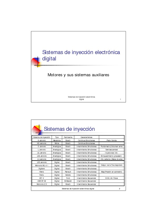 Sistemas de inyeccion electronica digital pdf Sistemas de inyeccion electronica digital pdf