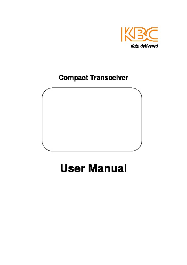 Manual Compact Transceiver Rev20101014 pdf Manual Compact Transceiver Rev20101014 pdf