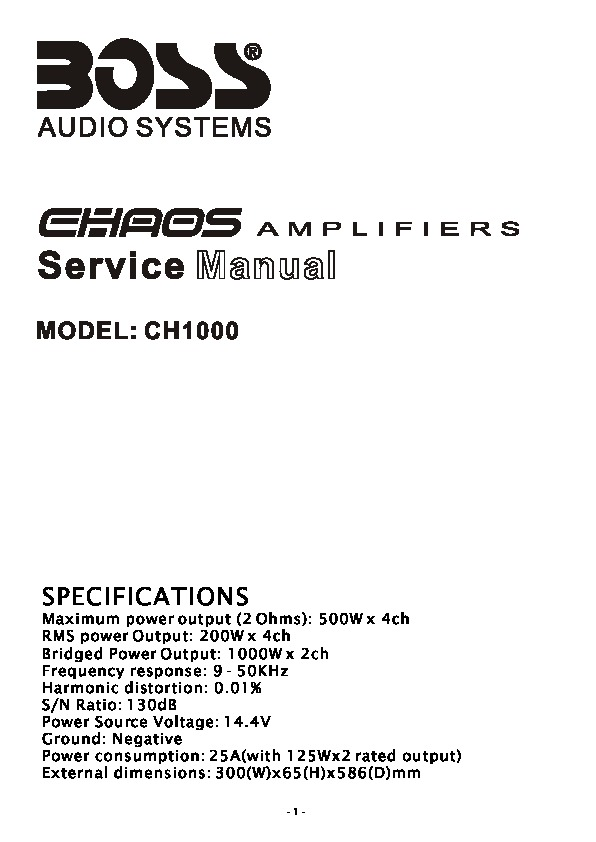 BOSS CH1000 Manual de Servicio.pdf