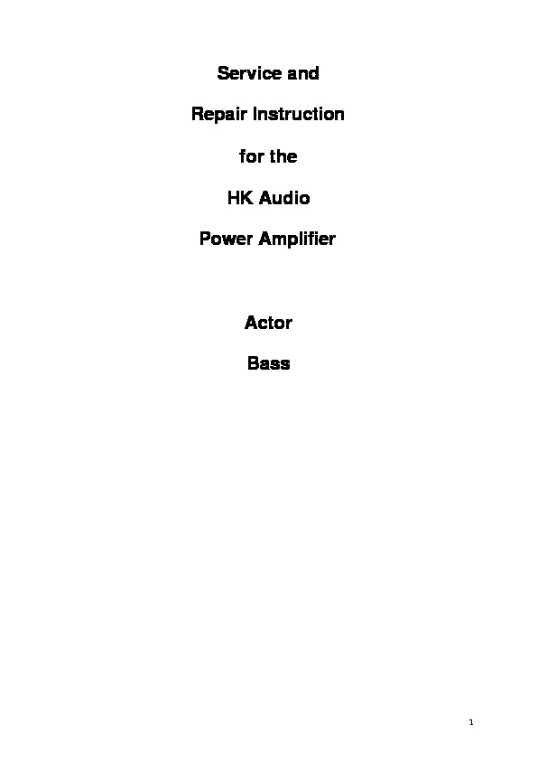 Actor service instruction pdf Actor service instruction pdf