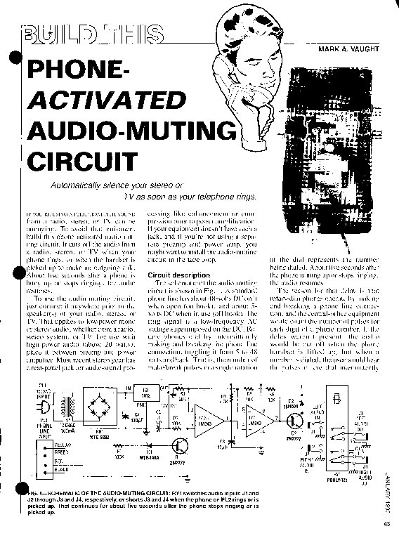 Phone Activated Audio Muting Circuit pdf Phone Activated Audio Muting Circuit pdf